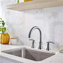 Sicuani Deck Mounted Dual Handle Bath Tub Faucet
