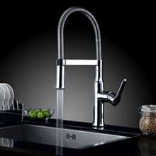 Nariman Single Lever Chrome Finish Deck Mount Hot and Cold Kitchen Sink Faucet