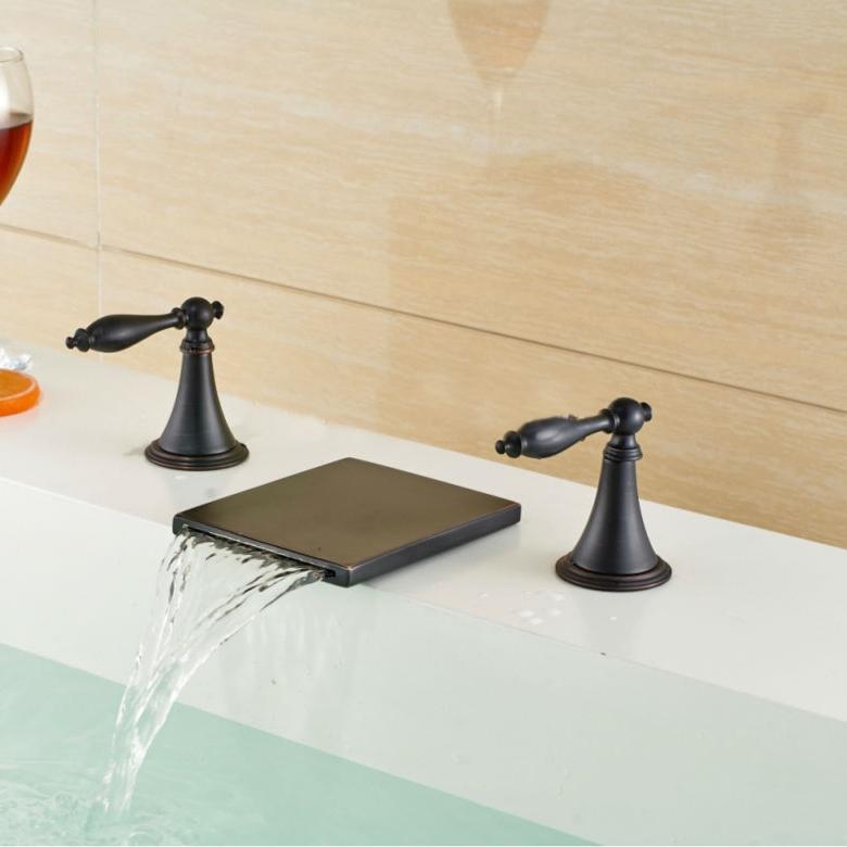 Deck Mount Bathtub Faucet.Venice Oil Rubbed Bronze Deck Mount Bathtub Faucet With Hot Cold Mixer