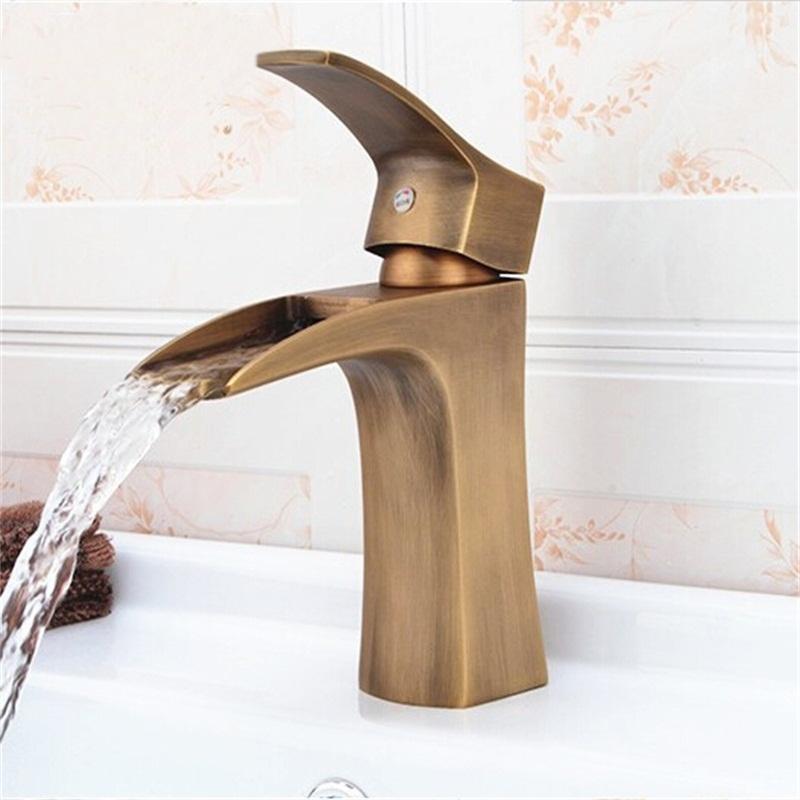 Single Handle Antique Br Bathroom Faucet