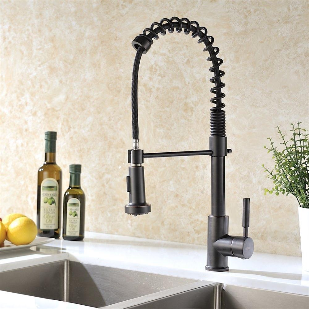 Bronze Kitchen Faucet Shop Jiguani Oil Rubbed Bronze Kitchen Sink Faucet At Fontanashowers Com