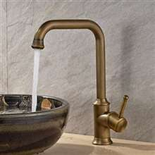 Mayabeque Antique Brass Single Handle Bathroom Sink Faucet
