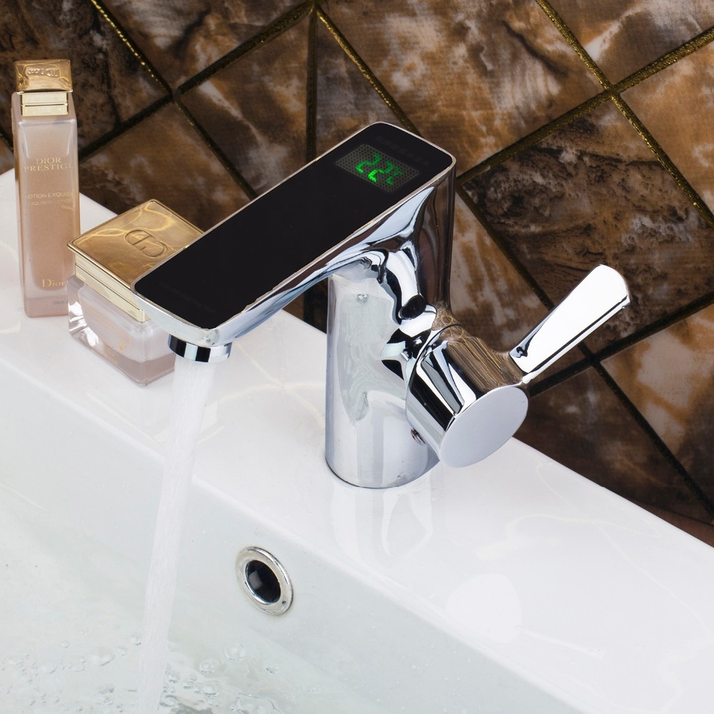 Acerra Luxurious Automatic Sensor Mixer Chrome Brass Bathroom Faucet