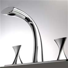 Bravat Chrome Finish Dual Handle Bathroom Sink Faucet
