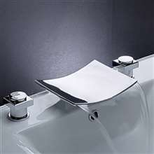 Leon Chrome LED Two Handles Bathroom Sink Faucet