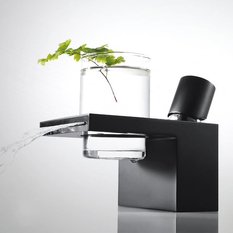 Bravat Deck Mounted Oil Rubbed Bronze Bathroom Sink Faucet