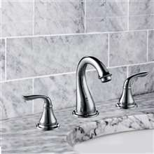 Surrey Dual Handle Bathroom Sink Faucet with Pop-up Drain
