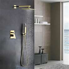 Fontana Brass Gold Tone Shower Set