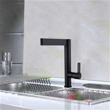 Grenoble Solid Brass Single Handle Matte Black Deck Mounted Kitchen Faucet