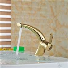 Marseille Mixer Single Handle Vanity Sink Faucet Golden Brass