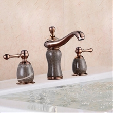 Lima Luxury Marble Rose Gold Finish Bathroom Faucet