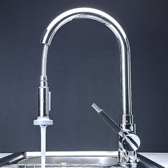 Venice Single Handle Centerset Pull Down Kitchen Sink Faucet