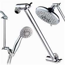 Signature 9 Inch Adjustable Height Shower Head Arm-Shower Arm extension