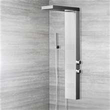 Alberni Stainless Steel Shower Panel with Massage Jets & Handheld Shower