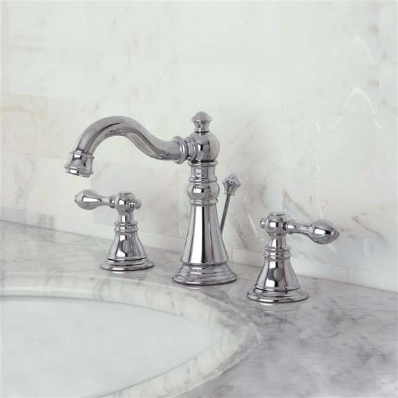 Colwood Dual Handle Chrome Bathroom Sink Faucet with Pop-up Drain