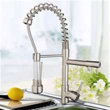 Vienna Single Handle Pull Down Kitchen Faucet with 360 Degree Rotation