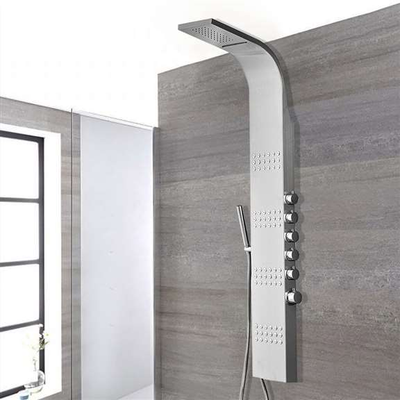 Tumbes Stainless Steel Rainfall Shower Panel System