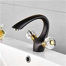 Fontana Le Havre Arc Oil Rubbed Bronze Dual Handle Sink Faucet