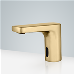 Fontana Commercial Brushed Gold Touch less Automatic Sensor Faucet