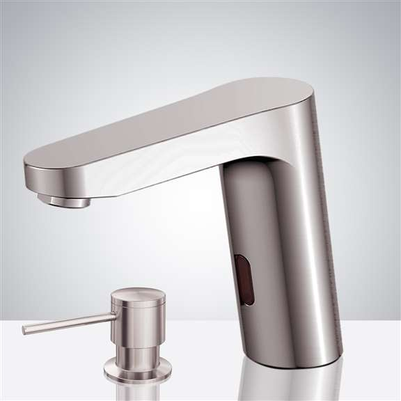 Fontana Commercial Brushed Nickel Touch less Automatic Sensor Faucet