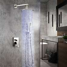 Fontana Flavia Brushed Nickel Color Changing LED Rainfall Shower Set