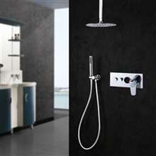 Fontana Lima Chrome Round Shower Set with 2-Way Digital Mixer
