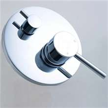 Prima Shower Valve Mixer 2-Way Concealed Wall Mounted - Chrome Plated Solid Brass Material