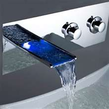 Rivera Wall Mount 3-pc LED Faucet Set