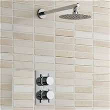 Nariman Shower Set-Ultra Thin Shower Head with Thermostatic Shower Mixer