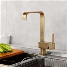 Phoenix Classico Antique Brass Single Handle Kitchen Sink Faucet