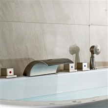 Lenox Brushed Nickel Bathtub Faucet with Hand Held Shower