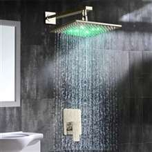 Amancio Wall Brushed Nickel Finish Mounted LED Shower Set
