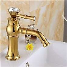 Salta Gold Finish Single Handle Bathroom Sink Faucet