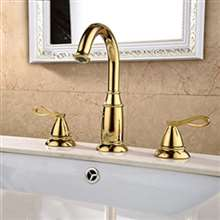 Therma Gold Finish Bathroom Sink Faucet