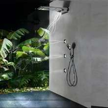 Fontana Pisa Body Jets Rainfall Thermostatic Shower System