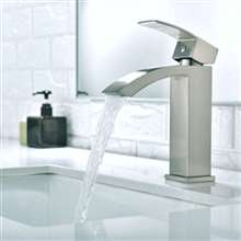 Martina Brushed Nickel Bathroom Sink Faucet