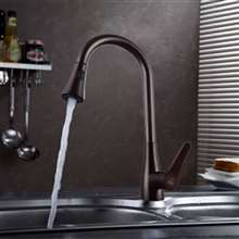 Vittoria Deck Mount Kitchen Oil Rubbed Bronze Finish Sink Faucet with Pull Down Sprayer