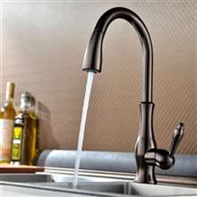 Moravia Deck Mounted Oil Rubbed Bronze Finish Kitchen Sink Faucet