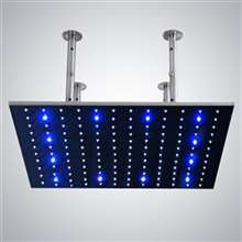 "30"" Fontana Stainless Steel square color changing LED rain shower head"
