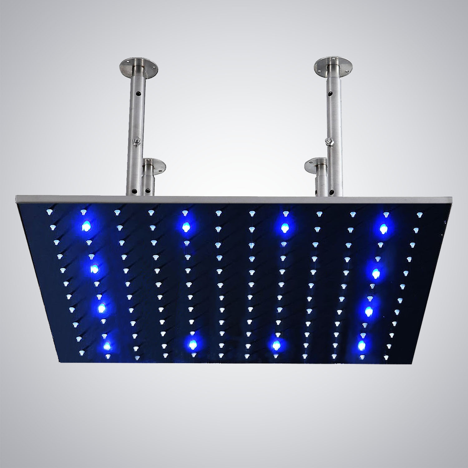 Fonatana 40 Stainless Steel Square Color Changing Led Rain Showerhead