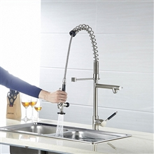 Grecia Deck Mounted Single Handle Kitchen Sink Faucet with Pull Down Sprayer