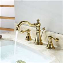 Burnaby Deck Mounted Dual Handle Bathroom Sink Faucet with Pop-Drain