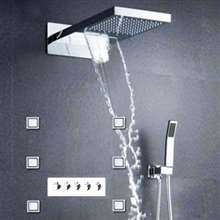 Oceane Wall Mount Multi-Functional Shower Set with Hot & Cold Water Mixing Valve