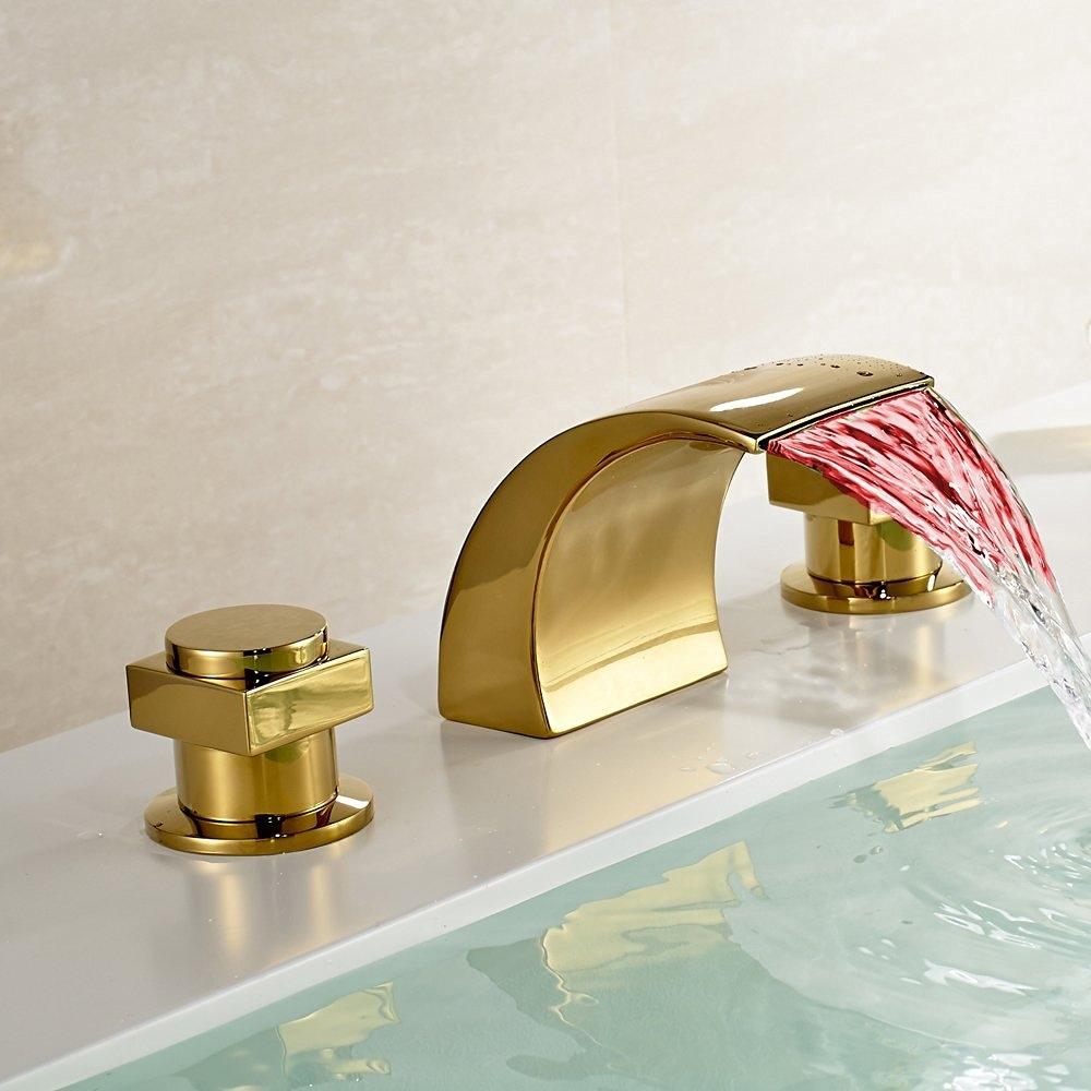 Led waterfall bathroom sink faucet - Led Waterfall Bathroom Sink Faucet 6