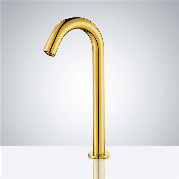 Stainless Steel Long Automatic Sensor Faucet Gold Finish