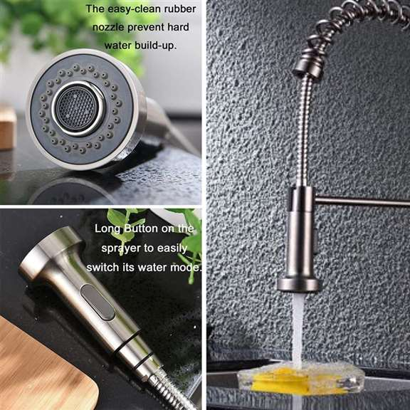 Polished ABS Technology Pull Out Kitchen Faucet Replacement