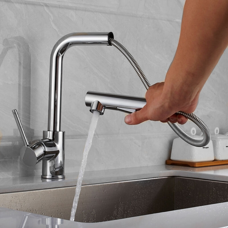 Amazing ABS Technology Pull Out Kitchen Faucet Replacement