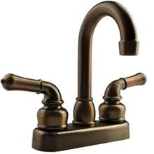 "RV Travel Oil-Rubbed Bronze 6"" Tall Spout Faucet Dual Handle"