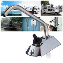 RV Travel Stainless Steel Faucet Swing Spout 360 Rotation
