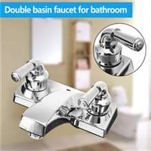 RV New Travel Dual Handle Faucet Ceramic Valve Chrome